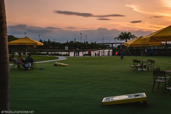 Sunset viewing at Ulele in Tampa Bay, Florida
