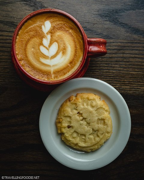 Latte and Shortbread at Anchor Coffee House in Windsor, Ontario