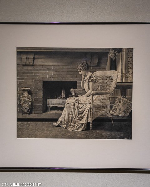 Woman in a chair drawing by Vicki Jones at Appleton Museum in Ocala, Florida