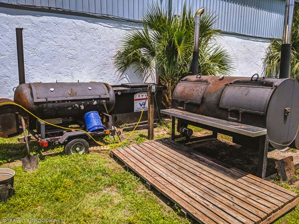 BBQ Pit at Big Lee's Barbecue in Ocala, Florida