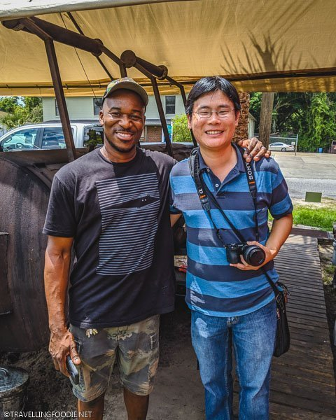 Big Lee's BBQ Owner Rashad Jones and Travelling Foodie Raymond Cua in Ocala, Florida