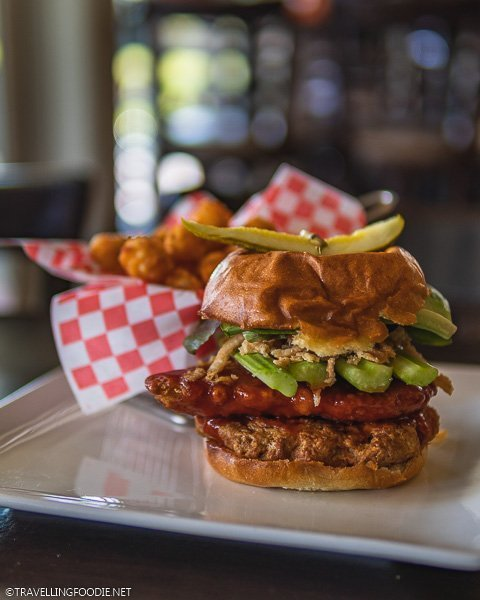 Buffalo Wing Burger at Caradoc Sands in Strathroy, Ontario