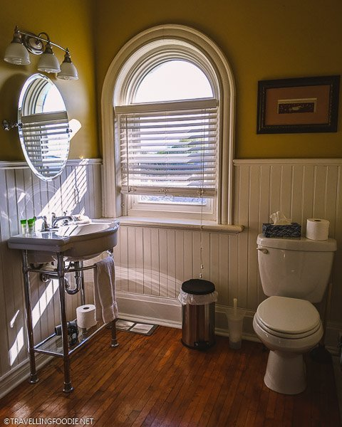 Prince of Wales Bathroom at Clock Tower Inn in Strathroy, Ontario