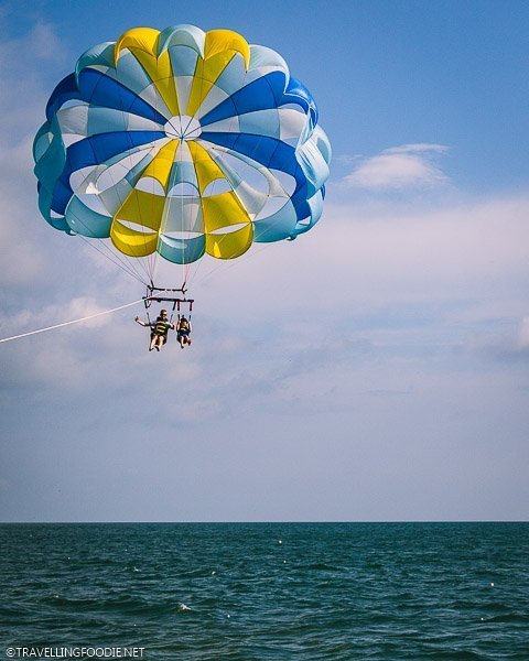 Father and Son Daytona Beach Parasailing