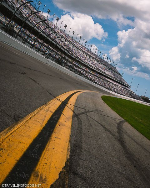 Curved Track of Daytona International Speedway