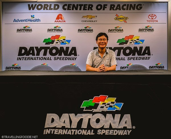 Travelling Foodie Raymond Cua at Daytona International Speedway Interview Panel