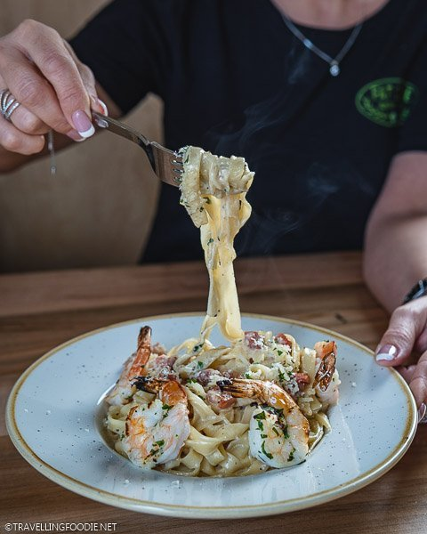 Fettuccini Alfredo at Fat Olive in Middlesex County, Ontario