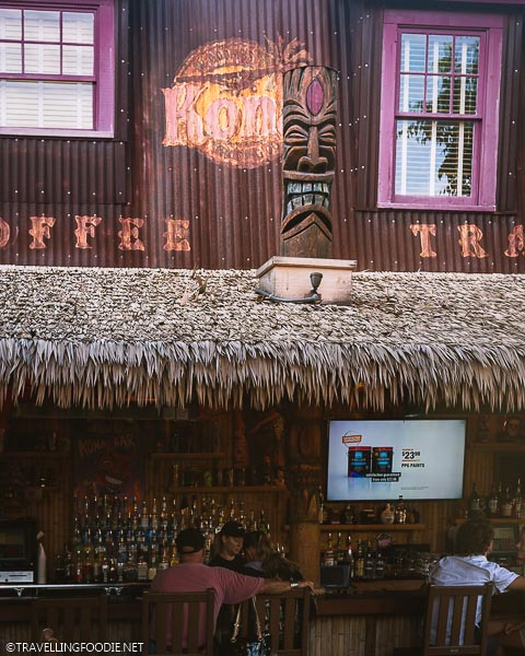 Bar area at Kona Tiki Bar