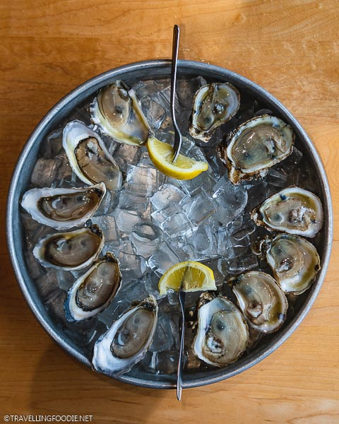 Fresh Oysters at Off The Hook at Inlet Harbour Raw Bar & Grill