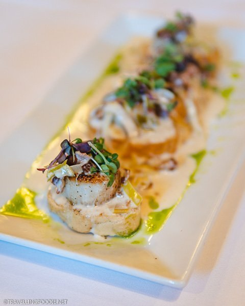 Pan Seared Scallops at Rose Villa in Ormond Beach, Florida