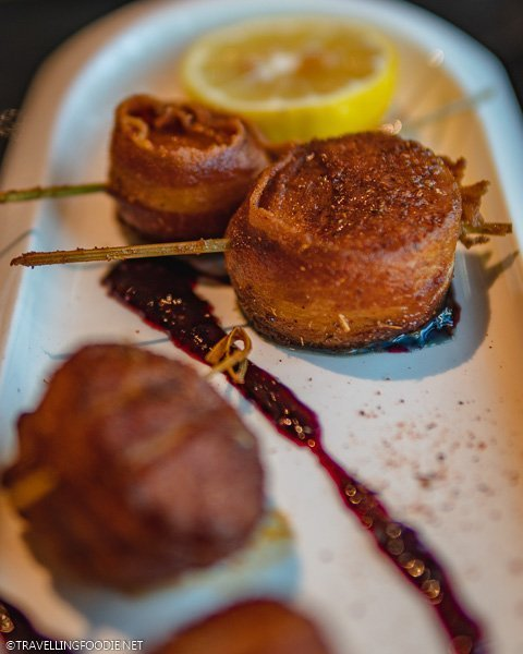 Bacon Wrapped Scallops at SKY Fine Dining in Ocala, Florida