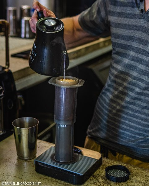 Aeropress at Symmetry Coffee Crepes in Ocala, Florida