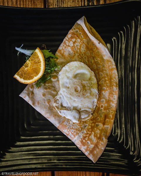Breakfast Crepe at Symmetry Coffee Crepes in Ocala, Florida