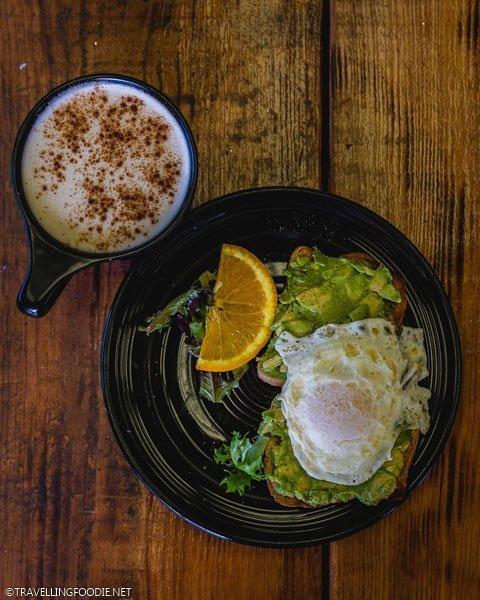 Avocado Toast at Symmetry Coffee Crepes in Ocala, Florida