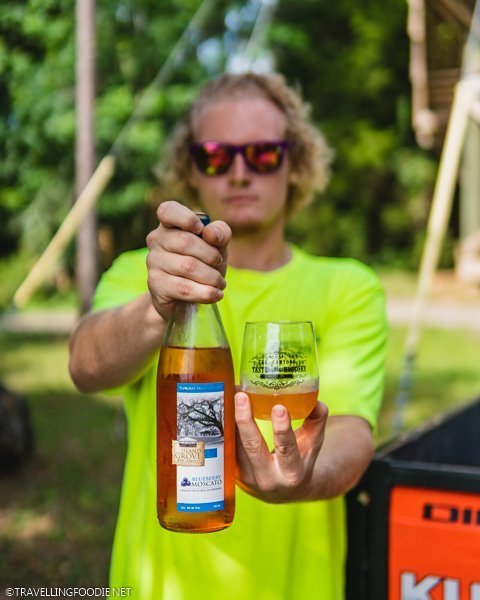 Island Grove Blueberry Moscato at The Canyons Zip Line in Ocala, Florida