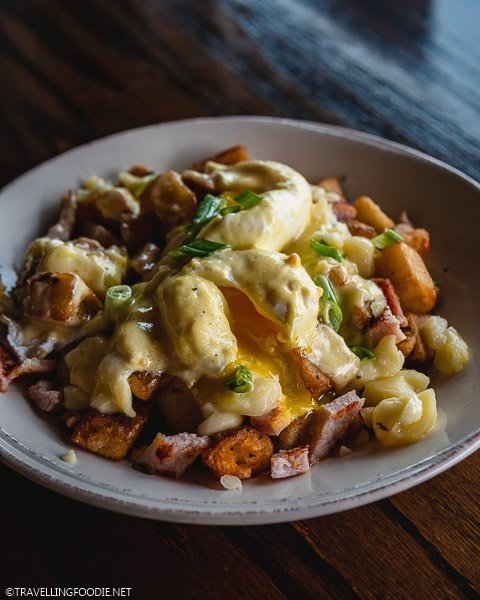 Eggs Bennedict Poutine at The Twisted Apron in Windsor, Ontario