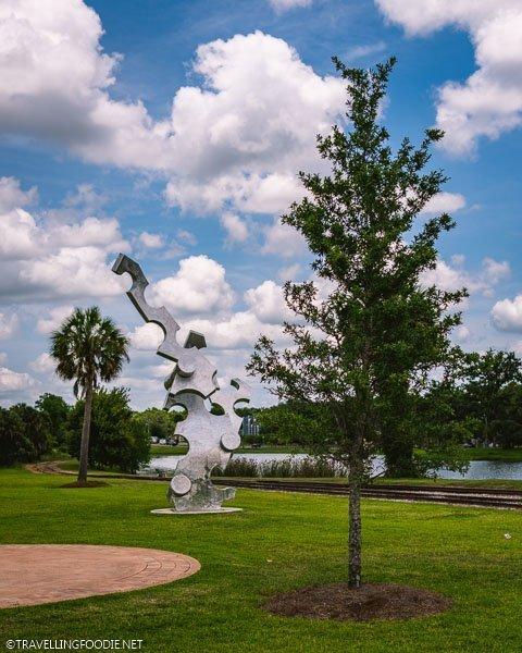 Navigator Sculpture at Tuscawilla Art Park in Ocala, Marion County, Florida