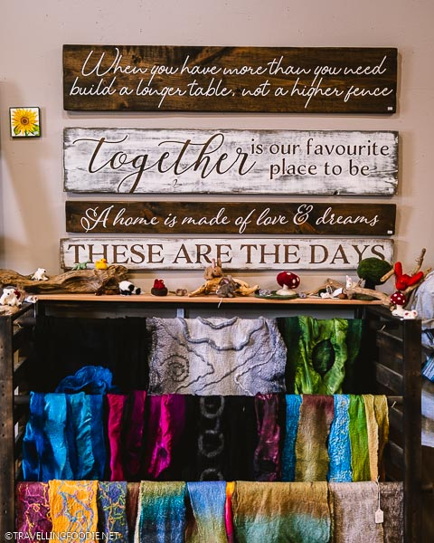Wall Quotes and Dyred Fabrics at Urban Art Market in Windsor, Ontario