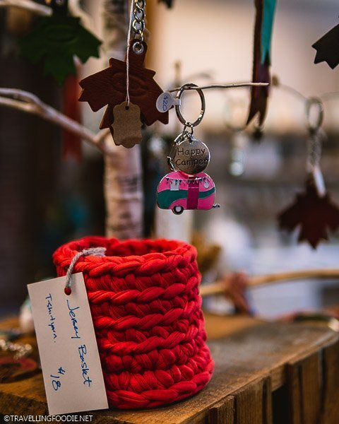 Happy Camper Keychain and Jersey Basket Yarn at Urban Art Market in Windsor