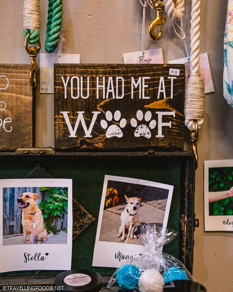 You Had Me At Woof sign and dog products at Urban Art Market