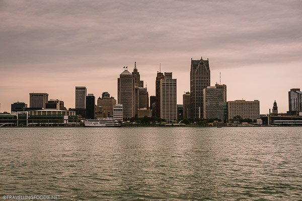 Detroit Skyline from Windsor Riverfront Trail