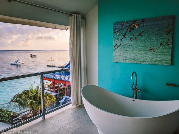 Oceanfront Penthouse Club Level Junior Suite Balcony Tranquility Soaking Tub at Sandals Montego Bay