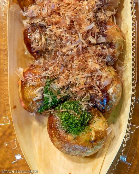 Takoyaki at Gindaco in Tokyo, Japan