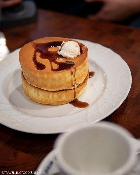 Souffle Pancake at Hoshino Coffee in Tokyo, Japan
