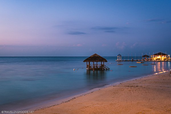 Dusk at Sandals Montego Bay in Jamaica