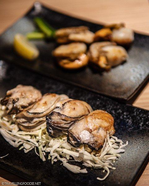 Hiroshima Oysters at Teppan Baby in Shinjuku, Tokyo, Japan