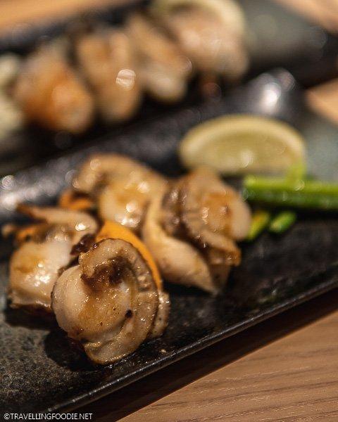 Scallops at Teppan Baby in Tokyo, Japan
