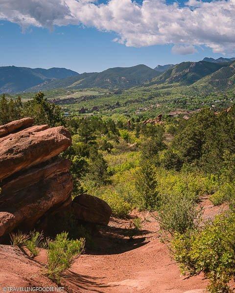 Mountain views at Garden of the Gods Park