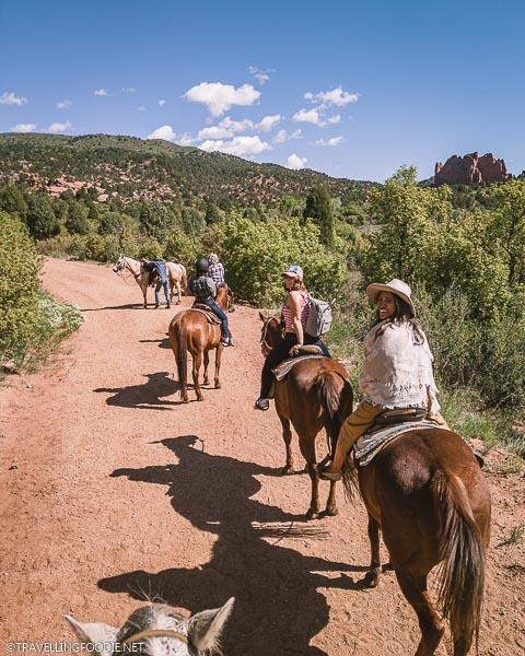 Bloggers Horseback Riding at Garden of the Gods in Colorado Springs, USA