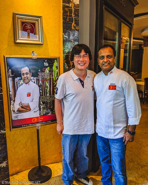 Michelin Star Chef Manjunath Mural with Travelling Foodie Raymond Cua at The Song of India in Singapore