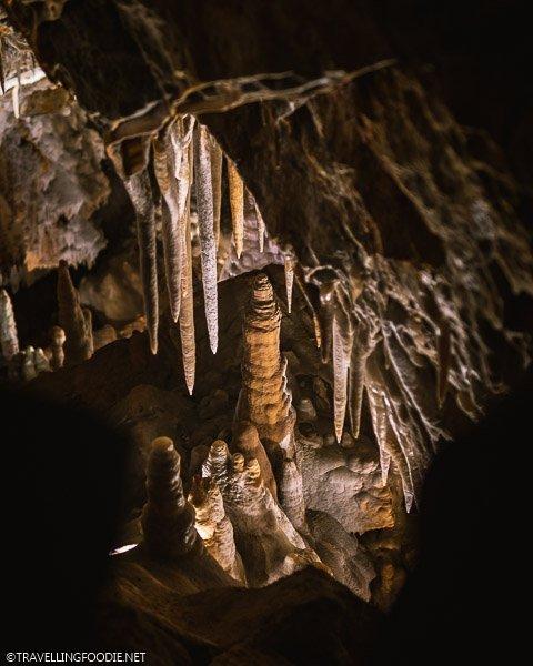 Framing Stalagmite at King's Row Cave at Glenwood Caverns Adventure Park
