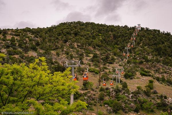 Gondolas at Glenwood Caverns Adventure Park in Glenwood Springs