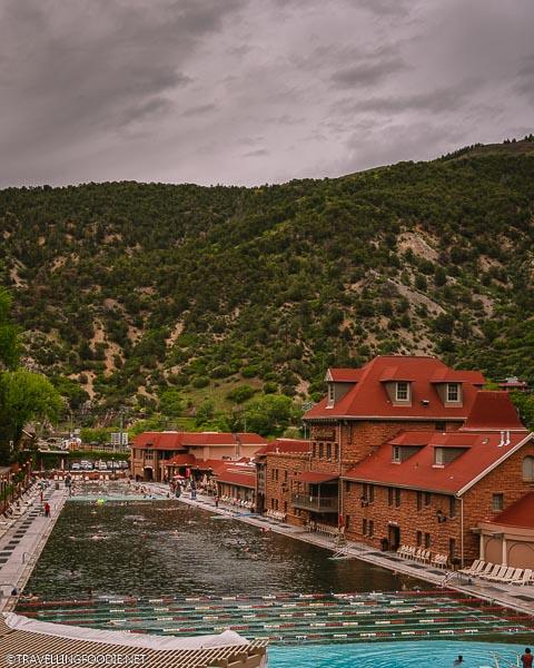 Daytime at Glenwood Hot Springs in Colorado