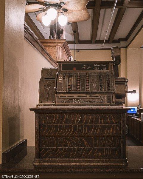 Vintage Cash Register at Hotel Colorado in Glenwood Springs