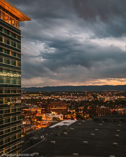 Sunset Views from the 54thirty Rooftop at Le Méridien Denver Downtown