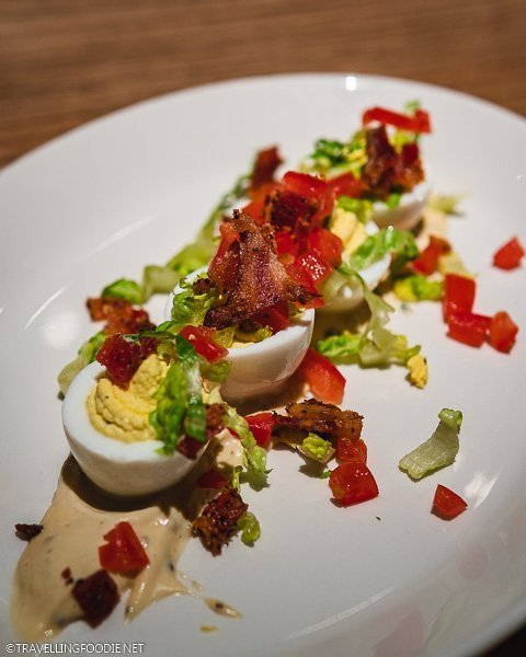 BLT Deviled Eggs at Corinne Restaurant at Le Meridien Hotel in Downtown Denver, Colorado