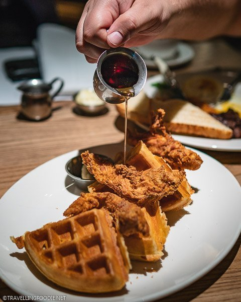 Chicken and Waffles at Corinne Restaurant in Le Meridien Denver Downtown
