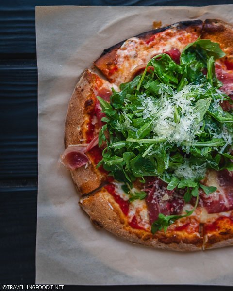 Prosciutto and Arugula Pizza at Limelight Lounge Snowmass