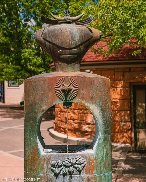 Cheyenne Spring in downtown Manitou Springs, Colorado