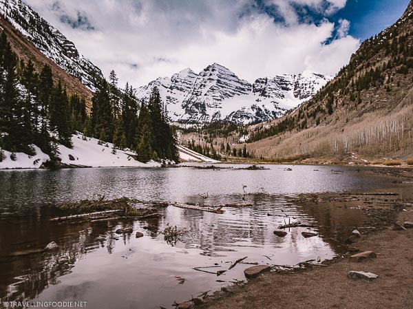 Maroon Bells in Aspen after avalanche