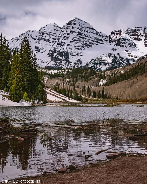 Maroon Bells with Lake in Aspen