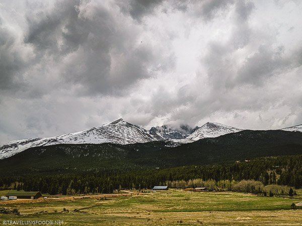 Snow-capped Mountains at Rocky Mountain National Park, USA