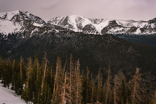 Snowy Mountains along Trail Ridge Road at Rocky Mountain National Park