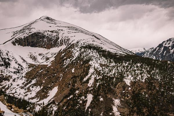 Close-up of Snowy Mountains at Rocky Mountain National Park