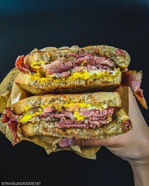 Pastrami Sandwich at Scratch Deli & Bakery in Estes Park