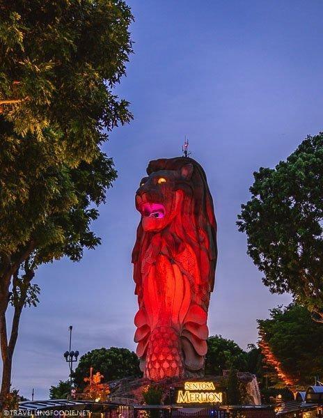 Sentosa Merlion in Singapore